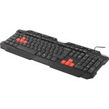Deltaco gaming tastatur, anti-ghosting, USB/PS/2, nordisk