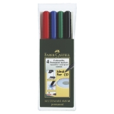 OH-pen VL Faber Castell medium, 4 stk.