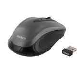 Deltaco trådløs optisk mus, 2 knapper med scroll, USB