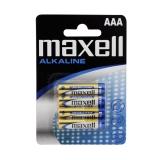 Maxell Batterier LR03/AAA Alkaliske 4-pakk