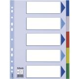 Avdelare PP A4 5 delat multifärgat