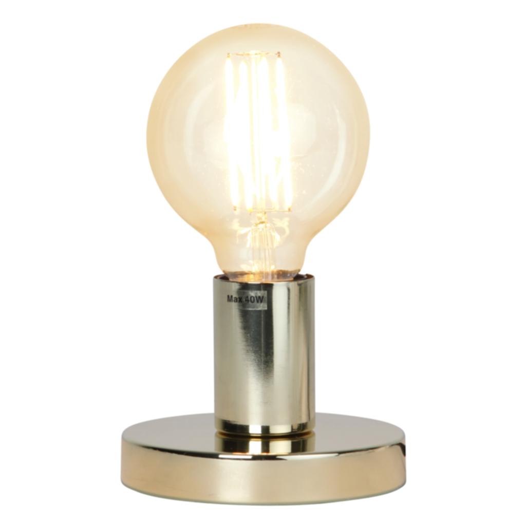 Star Trading GLANS lampefot i metall, E27, 8,5 cm, messing