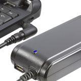 DELTACO laddare för bärbar 15-19,5V 90W, USB