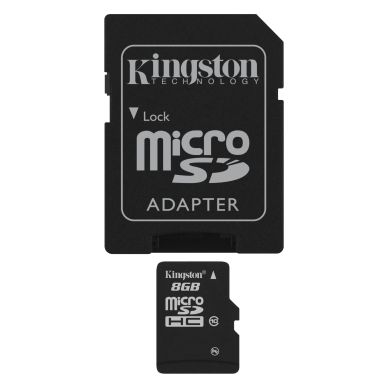 KINGSTON Kingston memory card 8GB,microSDHC,SDHC-adapter,Class 10