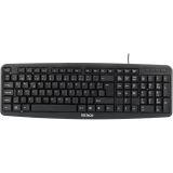 Deltaco tangentbord, nordisk layout, USB, svart