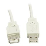 DELTACO USB 2.0 kabel Type A han - Type A hun 2m