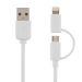 DELTACO USB synk/latauskaap. 2m, Lightning/USB micro-B, MFI