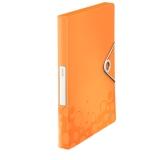 Laatikkokansio Leitz WOW PP oranssi