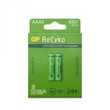 GP Recyko 650mAh AAA/HR03 2-pakning