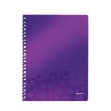 Muistikirja WOW PP A4 viivat violetti