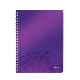 Notesblok WOW PP A4lin.80ark m/hul lilla