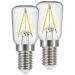 Airam LED Päronlampa Filament 1,5 W E14 2-pack