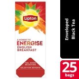 Lipton English Breakfast pakke med 25 stk.