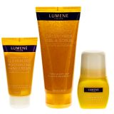Lumene spa-set med showergel/scrub, handkräm och deodorant