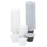 Kaffekopp plast 21 cl brun/vit, 50 st
