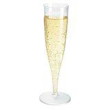 Plastglas champagne 13,5 cl fast fot, 10 st