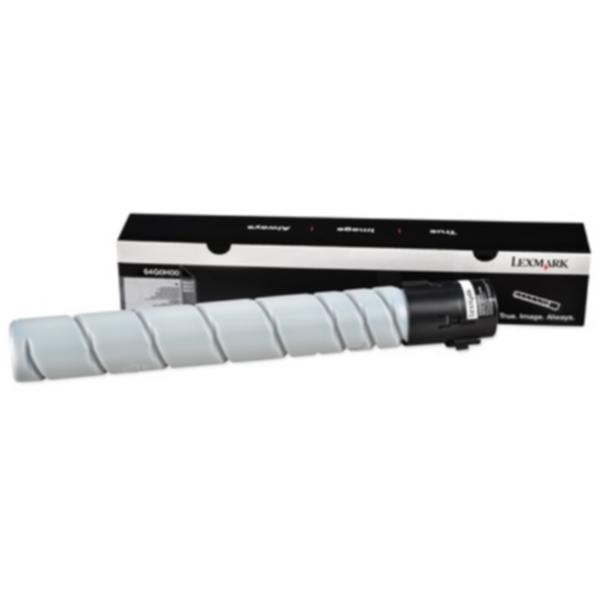 Pris på Lexmark Tonerkassett svart 32.500 sider 64G0H00 Tilsvarer: N/A
