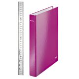 Ringpärm Leitz Wow A4+4RR 29 mm rosa