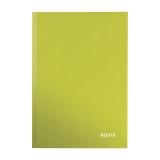 Anteckningsbok Leitz Wow  A4 linjerat grön