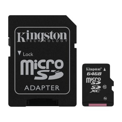 KINGSTON Kingston memory card 64GB,microSDXC,SD-adapter,Class 10