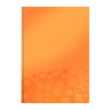 Anteckningsblock Leitz WOW A4 linjerat 90g/80bl orange