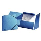 3-klap elastikmappe Esselte A4 blå