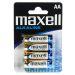 Maxell Batterier LR6/AA Alkaliske 4-pakk