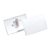 Navneskilt Clic Fold nål 90 x 54 mm, 25 stk.