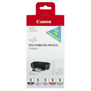 CANON CANON PGI-9 Multipack MBK/PC/PM/R/G Bläckpatroner 1033B013 Motsvarar: N/A