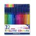 Fiberspetspenna TRIPLUS sorterade färger, 1,0mmm, 32st