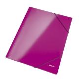 Elastikmappe Leitz Wow A4 lyserød